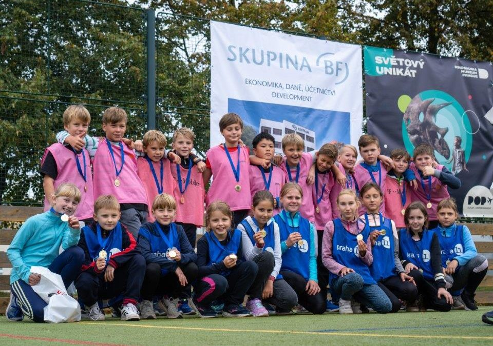 Děti využily poslední letní den 2021 ke sportu.
